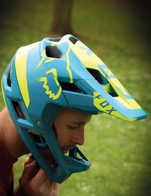 The helmet has been designed with enduro racer and trail riders in mind