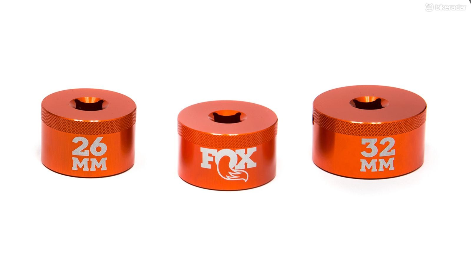 The Fox top cap sockets designed to fit snugly without marring the topcaps