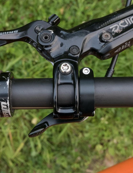 We had some issues trying to get the lever in the sweet spot when running SRAM brakes