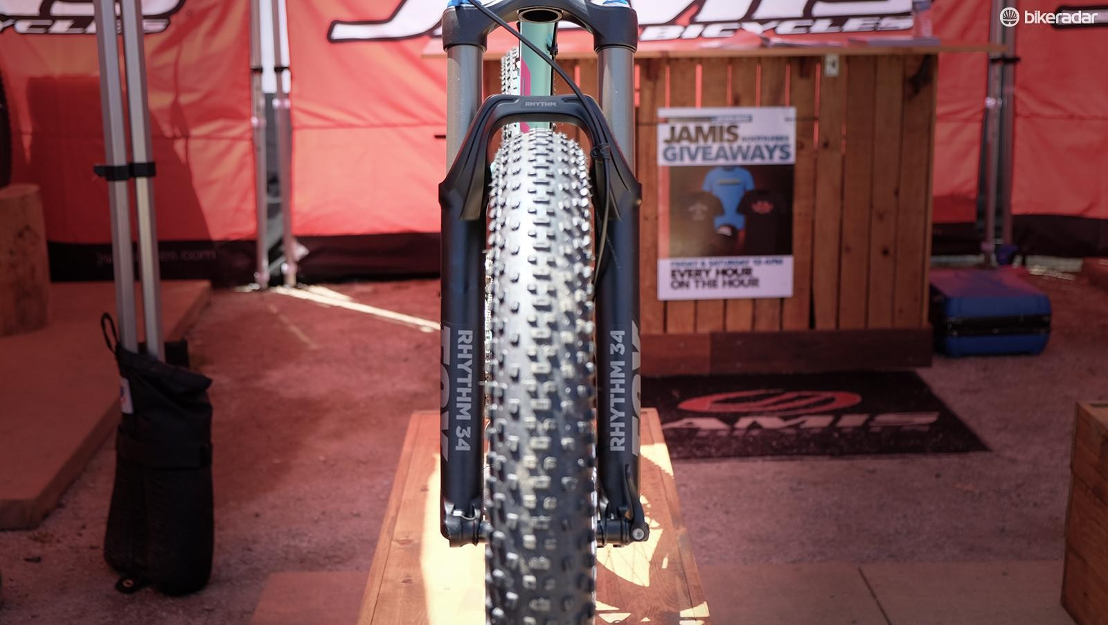26x3in tires fit well in existing 27.5in suspension forks and many 27.5 frames