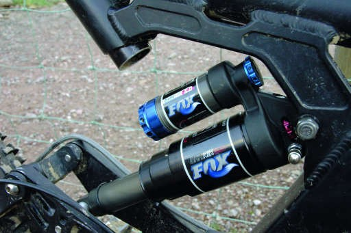 Fox Shox' DHX 50 Air shock is a lightweight shock for the heavyweight crowd