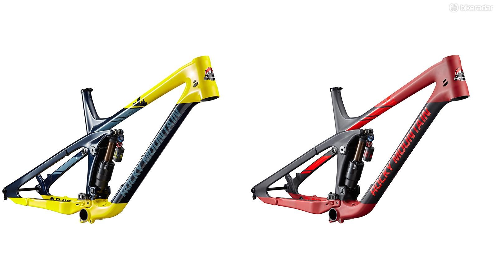 All four models use the same full carbon frame, offered in two colorways