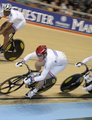 The French team sprint squad on the way to gold