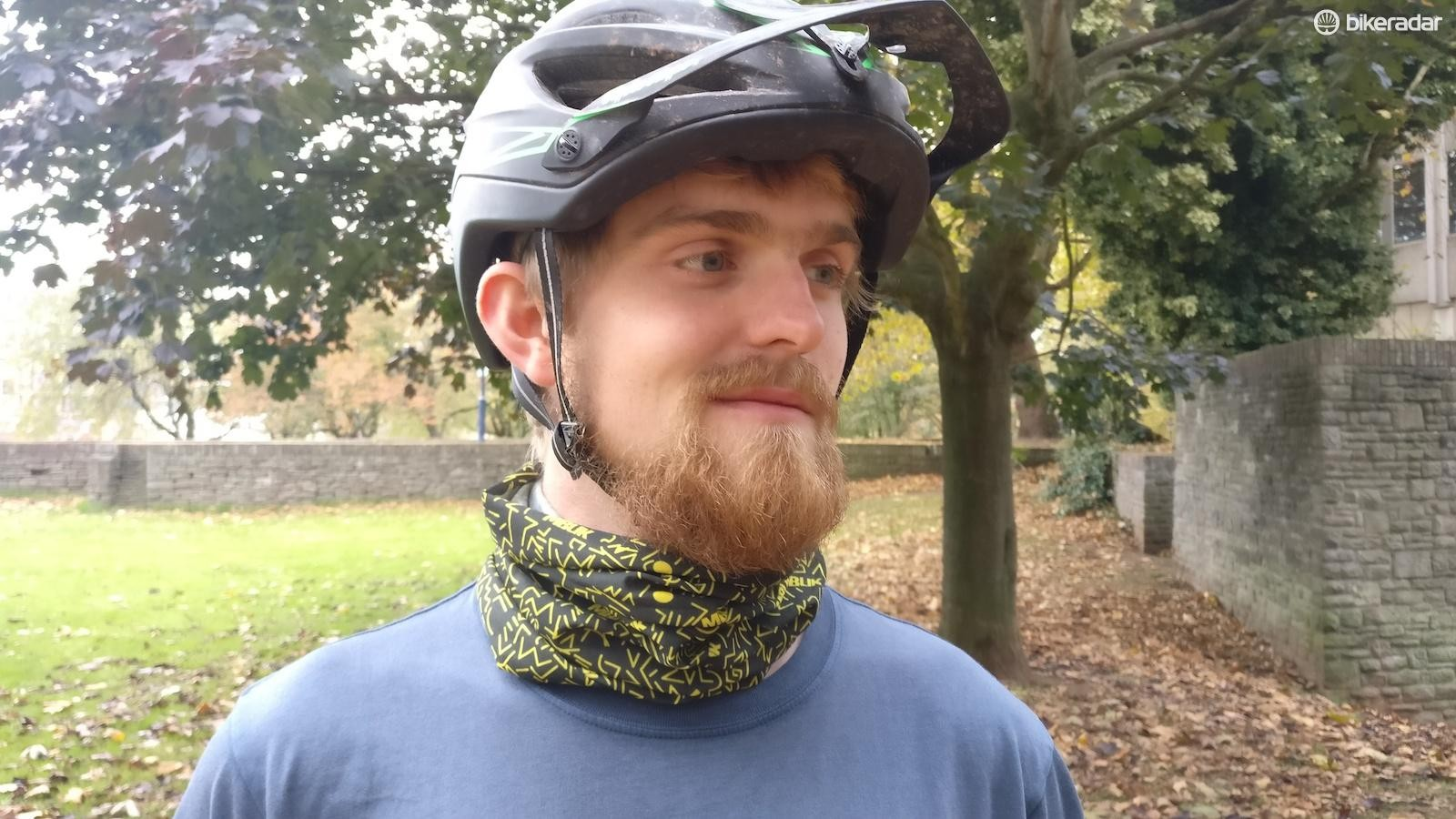 Keep the cold off, and the smile on your face, with this neck tube