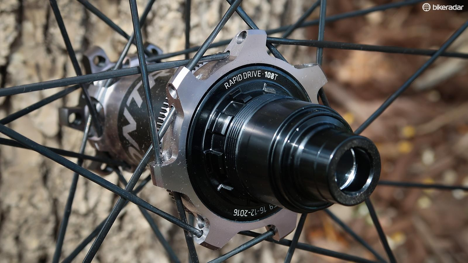 There are SRAM as well as Shimano freehub options