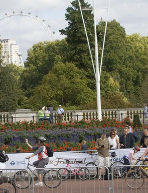 For one day only cyclists dominate the capital's streets