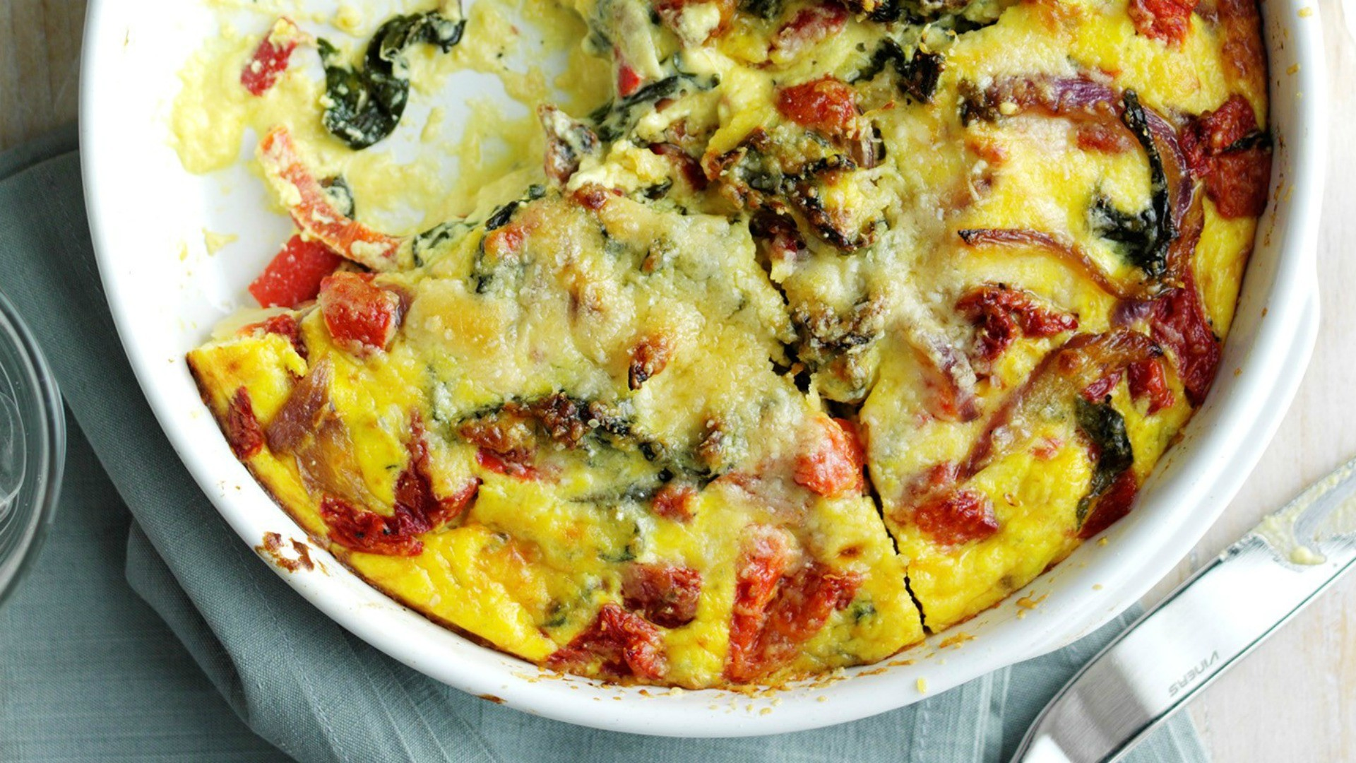 Packing in protein and iron, fritatas are also incredibly simple to make