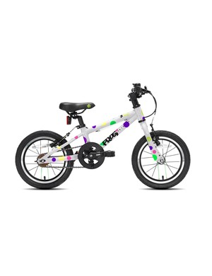 Frog Bikes are designed for junior riders and come in a range of colours, including this cool polka-dot design