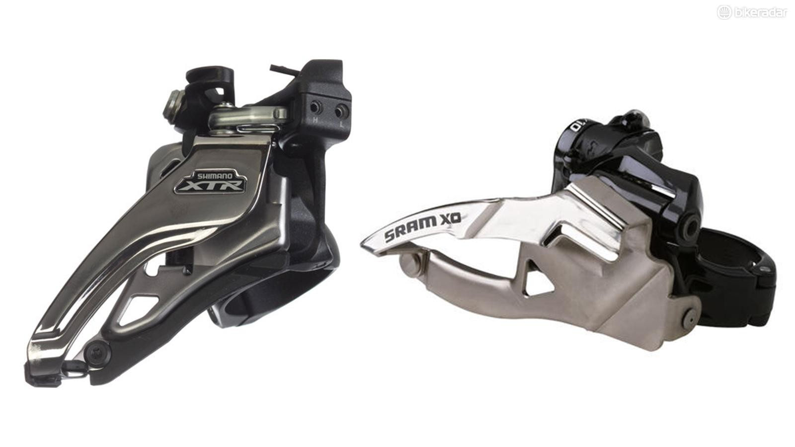Front derailleurs move the chain between the chainrings