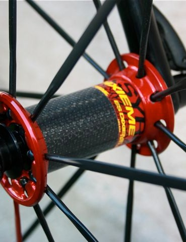 Mavic's ultra-light front hub.