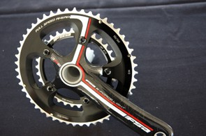 FSA's new K-Force Light BB386 EVO crankset features a 30mm-diameter alloy spindle like on BB30 but with a longer length that's adaptable to more frames