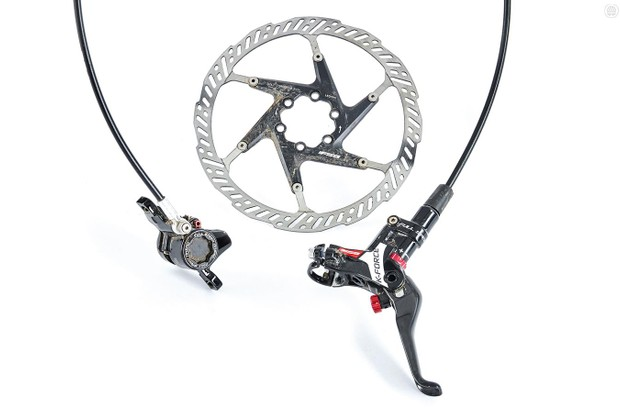 FSA's K-Force brakes aren't the strongest but are light with good feel