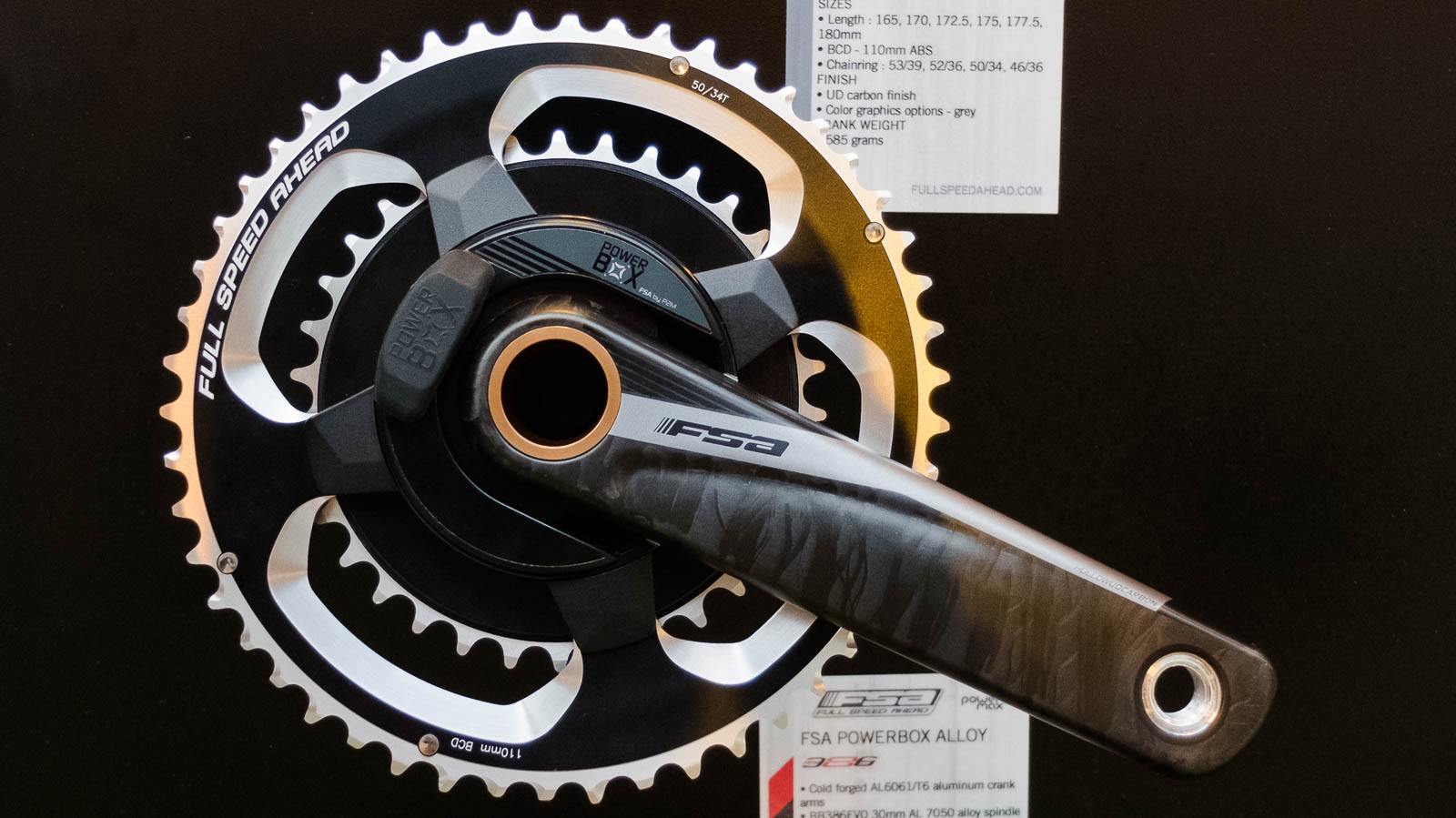 The new FSA Powerbox carbon power meter crankset produced in collaboration with Power2Max