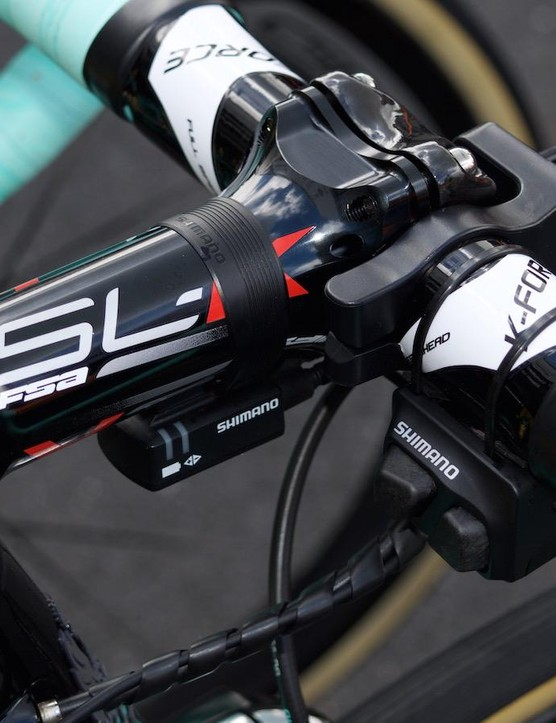FSA SL-K stems are popular with pros as they offer drops up to -17 — good for getting a low position