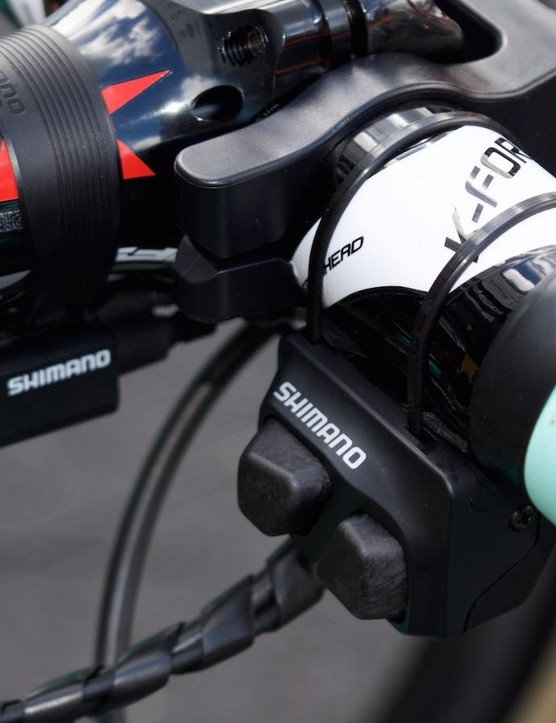 Shimano's so-called climbing switch allows for two-way shifting of the rear derailleur with the right thumb