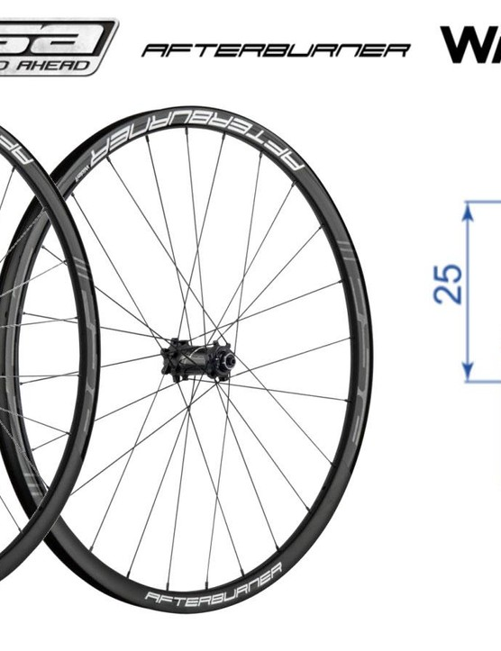 Joining the wider wheel movement, FSA's aluminum Afterburner rims bump up to a healthy 27mm internal width