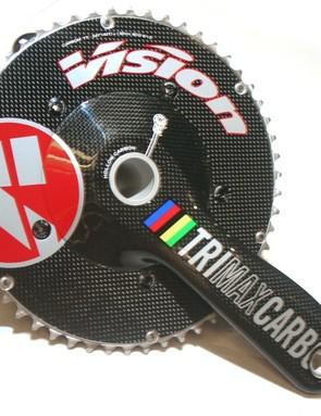 Vision's TRI/TT specific Max Carbon aero chainset