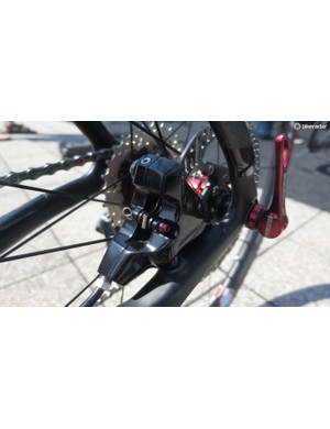 The FSA disc brakes on the new K-Force WE certainly look ready for market