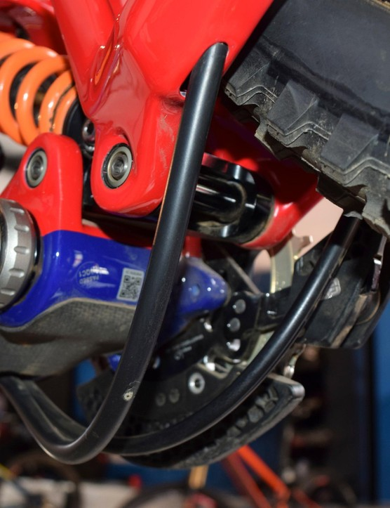 Fuel lines from engines offer protection for BB routed cables
