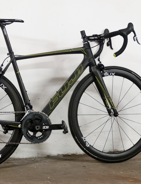 The slammed stem has given the bike a mean looking profile