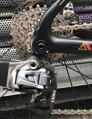 The suitably speed-focused cassette ranges from 11 to 28t