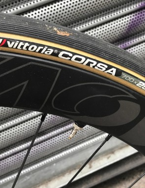 The Vittoria Open Corsa tyres were fast-rolling, yet secure in corners