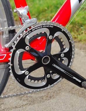 FSA Gossamer cranks with welcome 53/39 rings