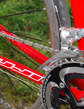 Shimano's Ultegra front mech is another Old Reliable