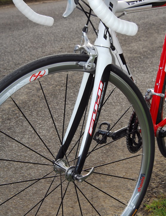 Smoothly radiused front fork for classic looks