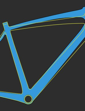 The Gran Fondo's geometry compared to the SL – it's a little taller, a little shorter in the top tube, but a bit longer in wheelbase
