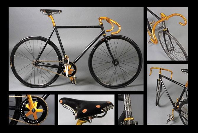 A limited edition Fuji Obey track bike is one of the items available for bidding.