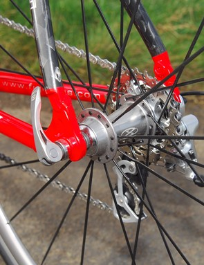 Xero rear wheel is radial laced on the left side