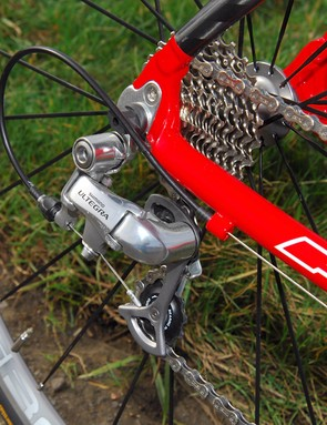 Shimano Ultegra rear mech on a replaceable hanger in case disaster strikes