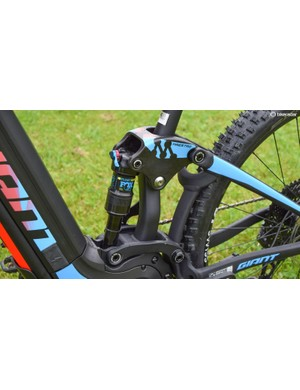 My test bike had a Fox rear shock, but the top spec production builds will get a RockShox unit