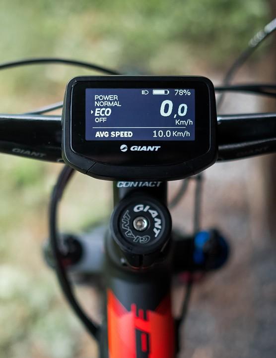 The RideControl Evo head unit gives you all the vital statistics