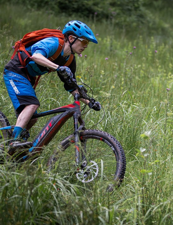 All the adults were busy this time, so BikeRadar sent this malnourished child to try out the Full-E+