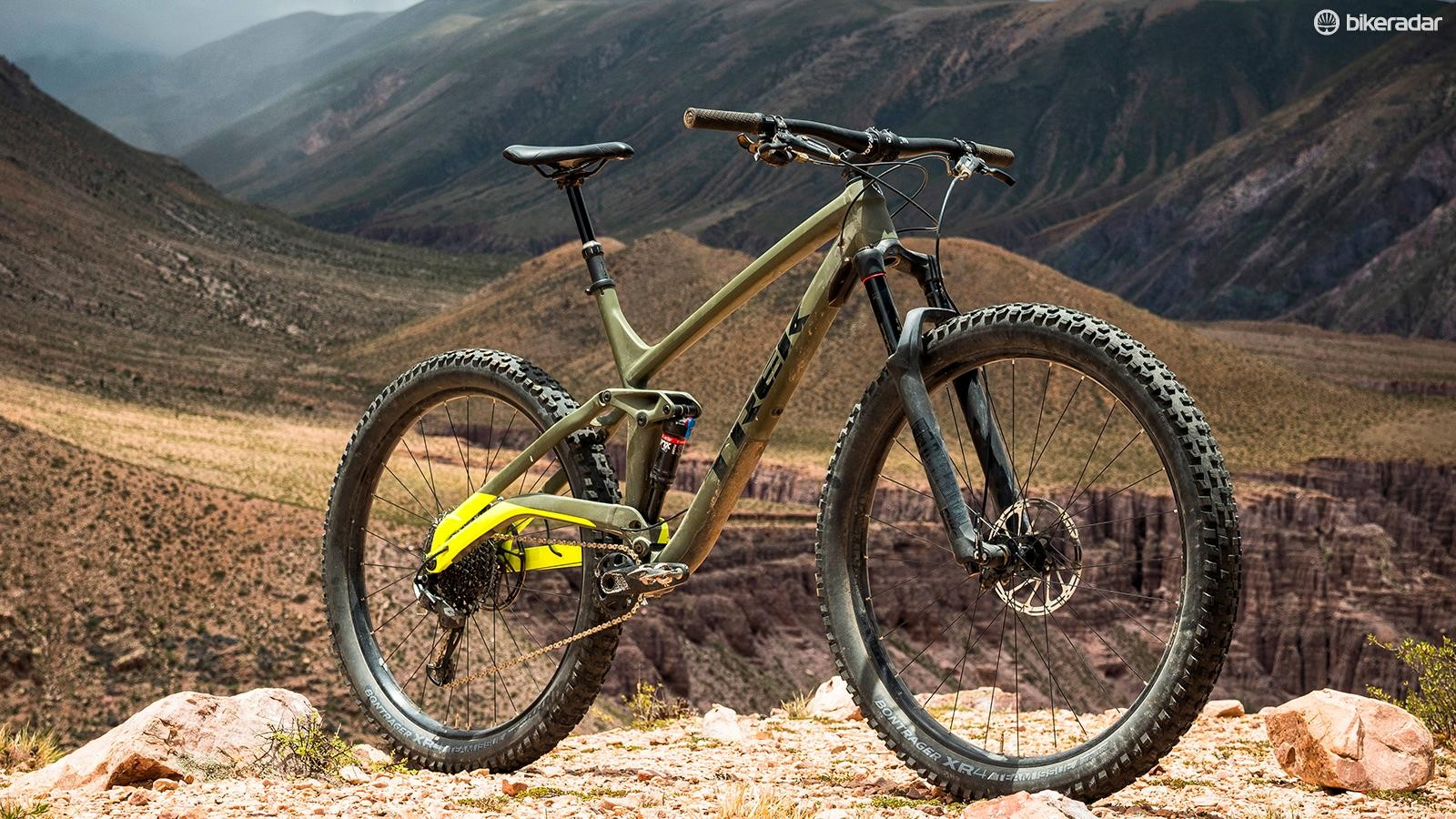 The Trek Full Stache combines 130mm of suspension, trail bike geometry and 29x3in tires