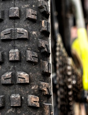 Real rubber: the Full Stache comes with Bontrager's new 29x3in XR4 tires