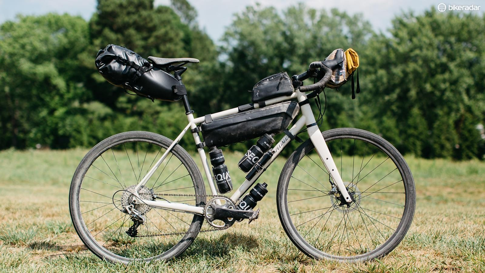 Specialized is rolling out a line of weather-resistant frame packs as part of the company's Adventure Gear collection