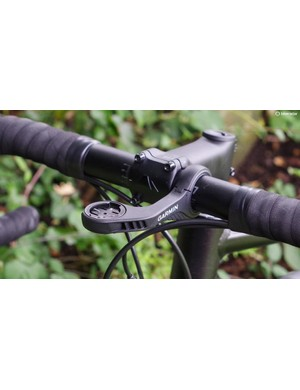 Garmin's new out-front mount is super solid, and it places the Edge 1030 flush with the top of the bar