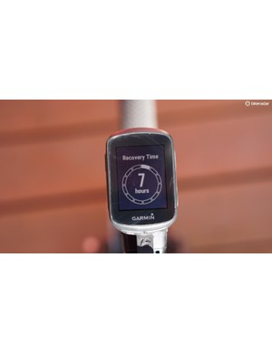 When used with a heart-rate monitor, the Edge 130 will volunteer post-ride advice