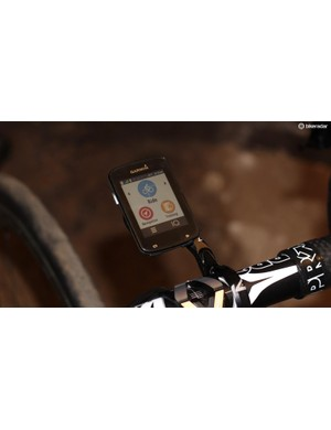 Start/stop, lap and power are your three buttons. Everything else is done on the touchscreen