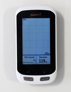This is the Elevation screen – it'll visualise what kind of vertical ascent you've done vs distance ridden