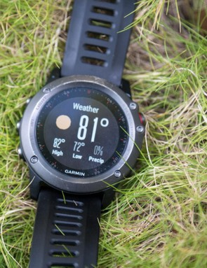 Through the active bluetooth connection the Fenix 3 can display things like weather