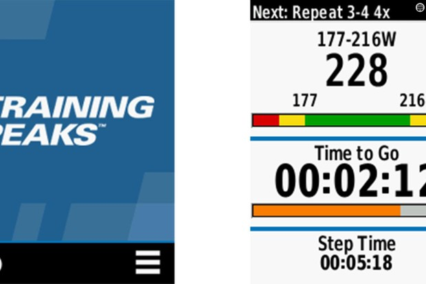 Got a newer Garmin Edge and use TrainingPeaks? Then check out the Connect IQ app