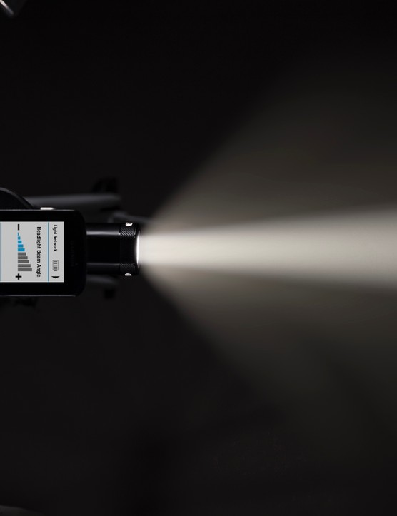 The Garmin Varia UT800 adjusts its brightness based on speed and ambient light when paired with a newer Garmin Edge computer