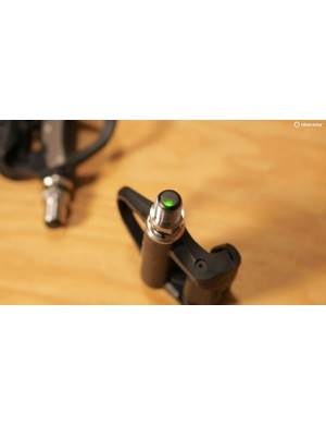 LED indicators are tucked inside the spindle, instead of on the Vector 2's dangling pods