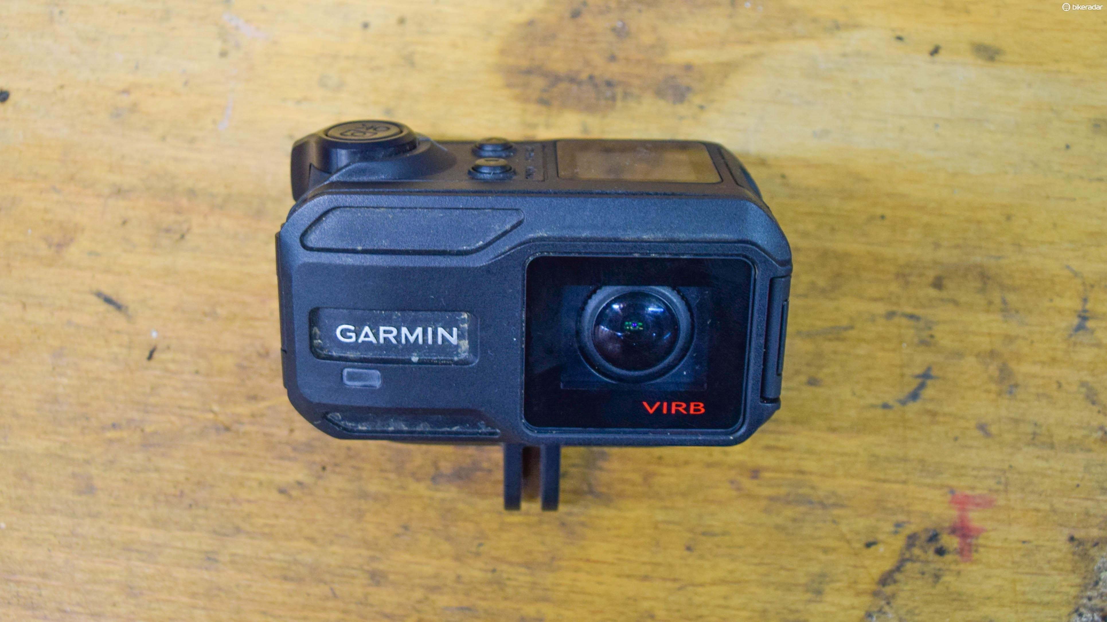 The Garmin ViRB is a chunky action camera and you can tell in this photo we've put it through some abuse
