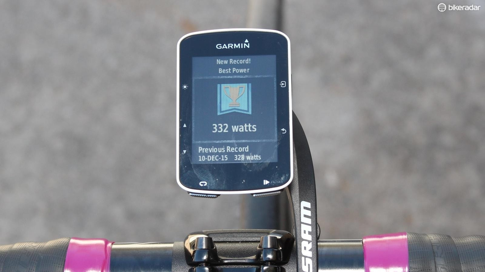 The Garmin 520 provides plenty of meaty training and performance data to get your teeth into