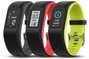 The Garmin Vivosmart comes in a variety of colours and with a colour touchscreen display
